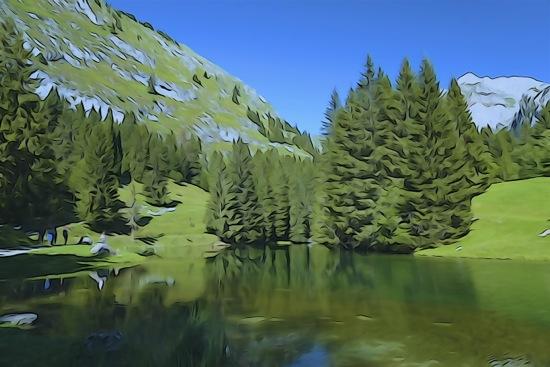 F8269104-Aquarelle du petit lac