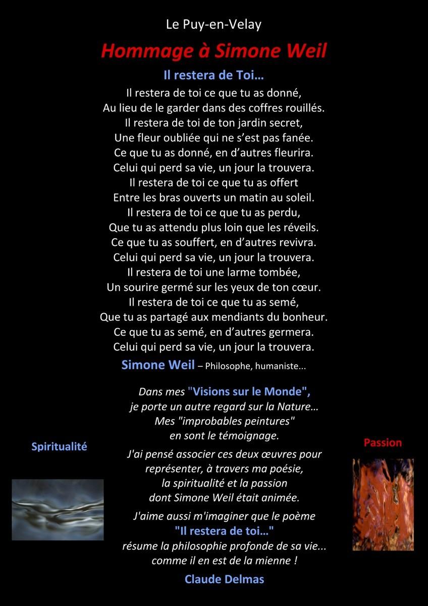 Hommage à Simone Weil